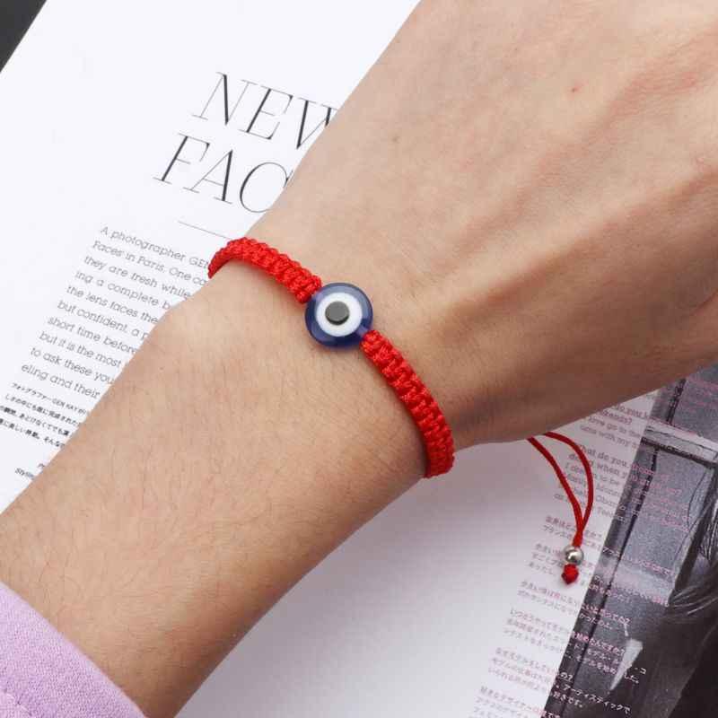 ตุรกี Evil Eye Protection Kabbalah Red String สร้อยข้อมือ Fatima Hand เครื่องประดับสำหรับ Unisex