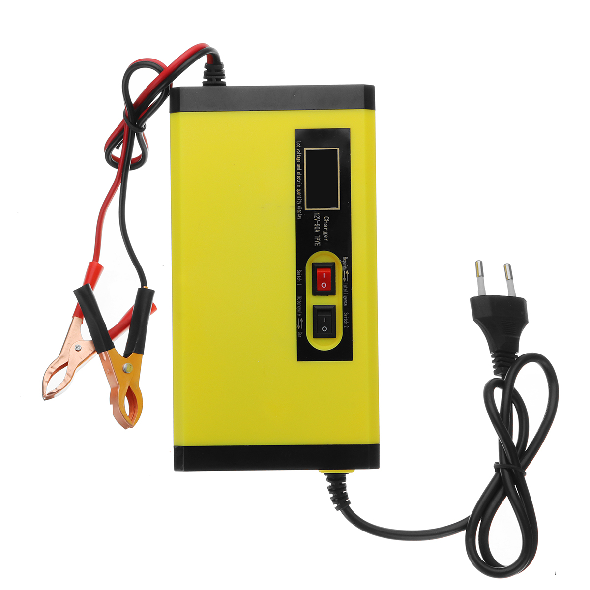100W 12V 8A 100-240V Intelligent Battery Charger Pulse-Repair For Car Motorcycle Wet Lead Acid EU/US Plug LCD Display Lightweigh