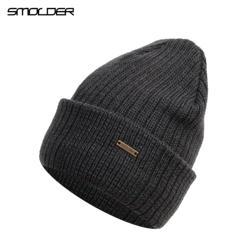 [SMOLDER] унисекс шапки вязаные металлические кепки женские мужские Beaines зимние дышащие Теплые горры шапки Твердые хип-хоп Повседневные шапки s