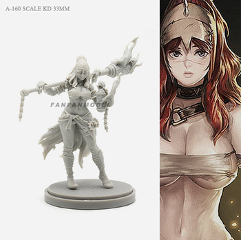 1/48 30mm Resin Figure Kits Goddess Beauty Self-assembled A-160