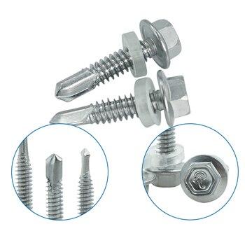 LUHUICHANG M5.5 410 stainless steel External Hexagonal Self Drilling Screw Bolt Tapping Tail