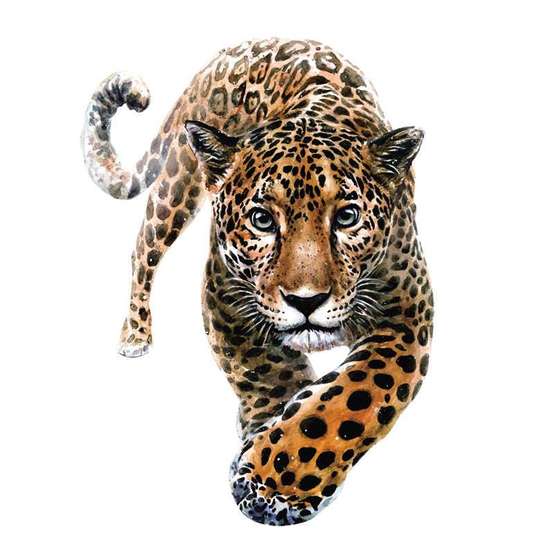 เสือดาวความร้อนสติกเกอร์เสื้อยืดผู้ใหญ่แพทช์ป่าเหล็กบนแพทช์ล้างทำความสะอาดได้ที่กำหนดเองแพทช์ A-Level Washable สติกเกอร์