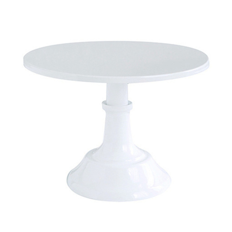 Metal Iron Cake Stand Round Pedestal Dessert Holder Cupcake Display Rack Bakeware White Birthday Wedding Party Decoration