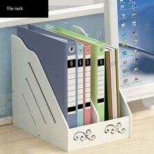 Креативные офисные аксессуары, многофункциональная деревянная Простая Офисная А4 стойка для файлов, школьная книжная полка для хранения документов