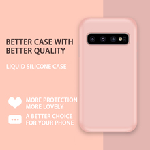 Liquid Silicone Case For Samsung Galaxy S10 Cover Cute Microfiber Lining S9 Plus A50 A70 A7 A9 J8 2018