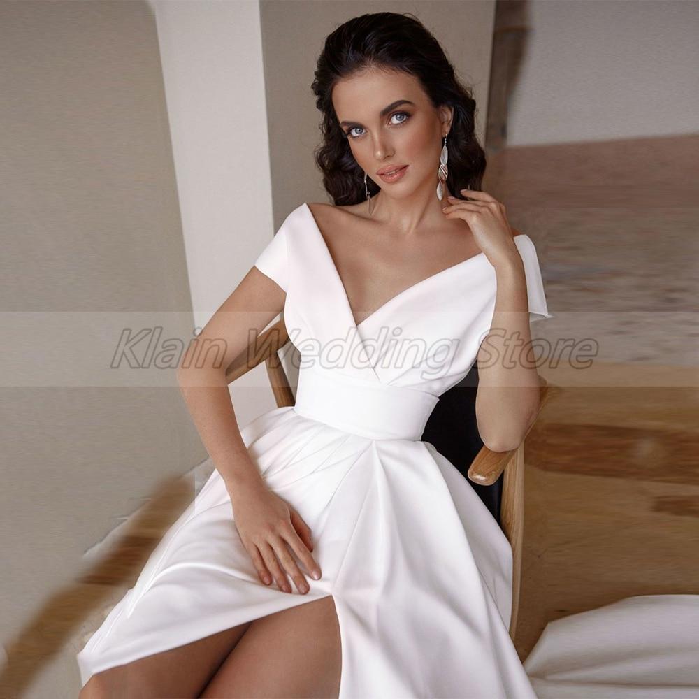 Wedding Dress Fashion Short Sleeve  3