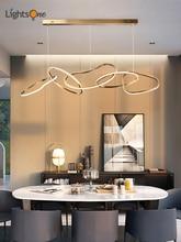 Simple light luxury chandelier creative dining restaurant bar minimalist personality art lamps