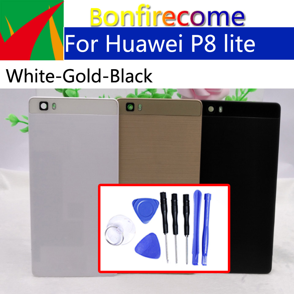 For <font><b>Huawei</b></font> <font><b>P8</b></font> <font><b>lite</b></font> ALE-L21 Back <font><b>Battery</b></font> Cover Rear Door Housing Cover <font><b>Case</b></font> Chassis Shell replacement image
