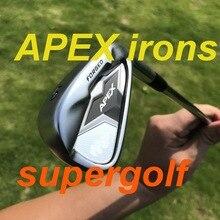 Новые утюги для гольфа, черные утюги для гольфа, кованый набор (3, 4, 5, 6, 7, 8, 9 P) с динамическим золотым стальным валом S300, 8 шт. клюшек для гольфа