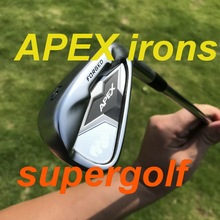 New golf irons black APEX irons forged set ( 3 4 5 6 7 8 9 P ) with dynamic gold S300 steel shaft 8pcs golf clubs