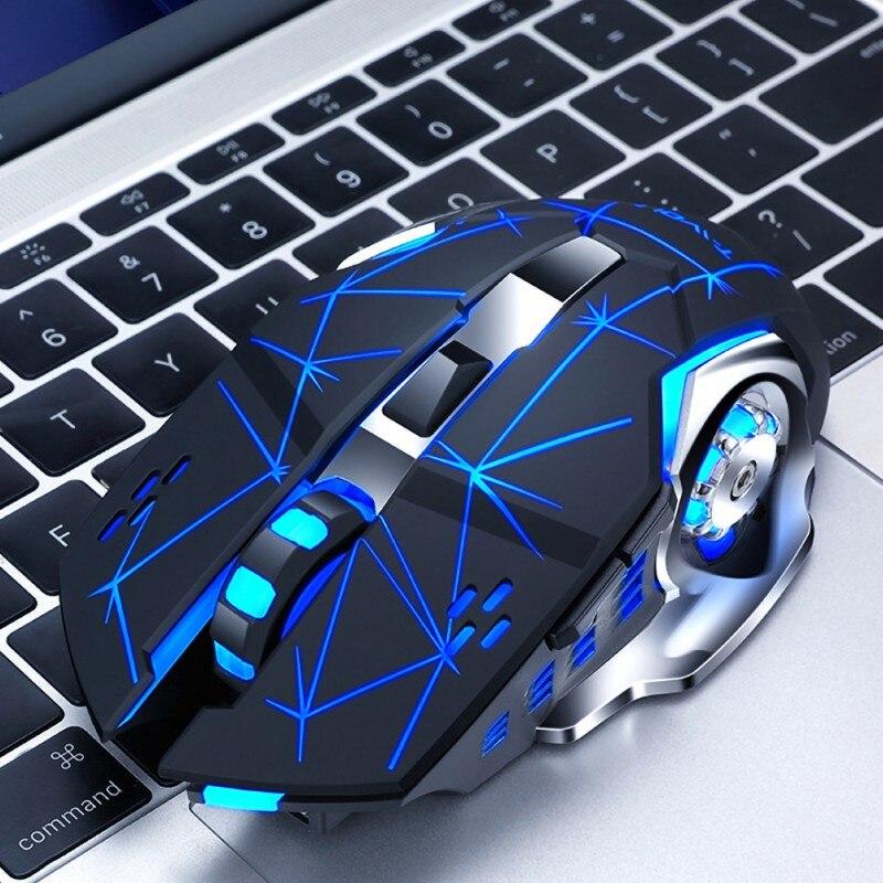 Q13 Three-speed 800/1600/2400 DPI Adjustment Rechargeable Wireless Silent LED Backlit USB Optical Ergonomic Gaming Mouse
