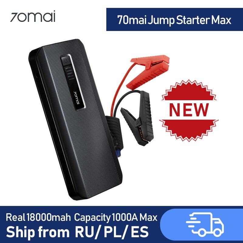 70mai Jump Starter Max Car Jump Starter 18000mah 1000A Power Bank Car Jumpstarter Auto Buster Car Emergency Booster
