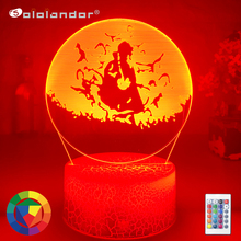 New ITACHI CROWS LED ANIME LAMP 3d Lamp Children Bedroom Decoration Remote Control Led Atmosphere Christmas Night Light cheap Sololandor CN(Origin) AYG02-NN-611 Night Lights Plastic LED Bulbs Switch Dry Battery HOLIDAY 0-5W 7 Colors Change Wholesale Price
