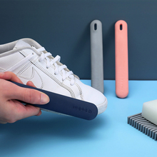 DAODAO Shoe Brush Cleaning Scrub Shoes Renovation Care Fit Washing Decontamination Laundry Soft Brush White Shoe Cleaner Kit bristles become warped head shoe brush polishing leather shoes polish wipe scrub fur soft hair