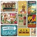 Летний индустриальный пляж бар приветственный жестяной знак винтажный Тики Бар Паб настенное украшение металлическая пластина постер Гав...