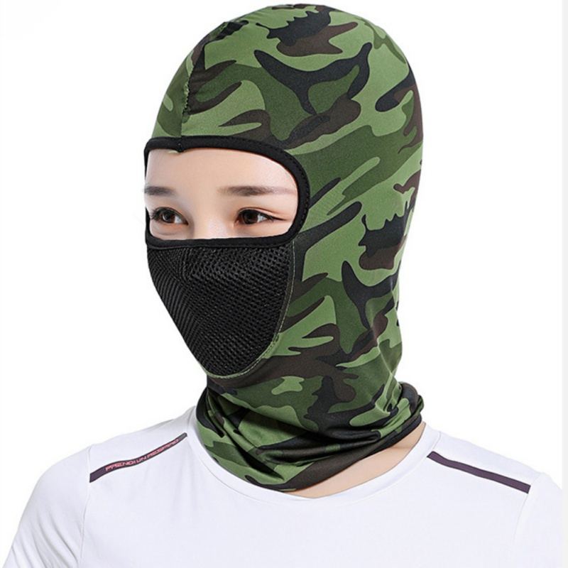 Summer Cycling Face Mask Ski Thin Breathable Neck Mask Protecting Scalf Windproof Outdoor Riding Hiking Running Full Face Mask in Diving Masks from Sports Entertainment