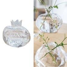 Mini romã vaso de vidro vaso artesanal vaso hidropônico arranjo flor artesanato decoração desktop