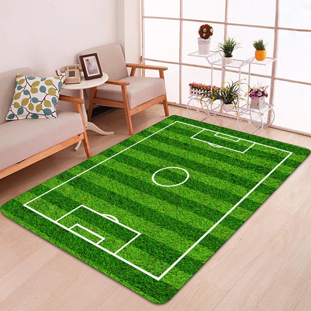 Anti Slip Rug Football Field Bedroom Home Decoration Bathroom Mat Soft Carpet Printing Kid Play Living Room Floor Flannel