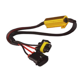 LED DRL Fog Light Canbus Load Resistor Warning Error Free LED Resistance Decoder tanie i dobre opinie SPEORX RUIYYT Alloy 0 128kg about 40CM (stretched length)