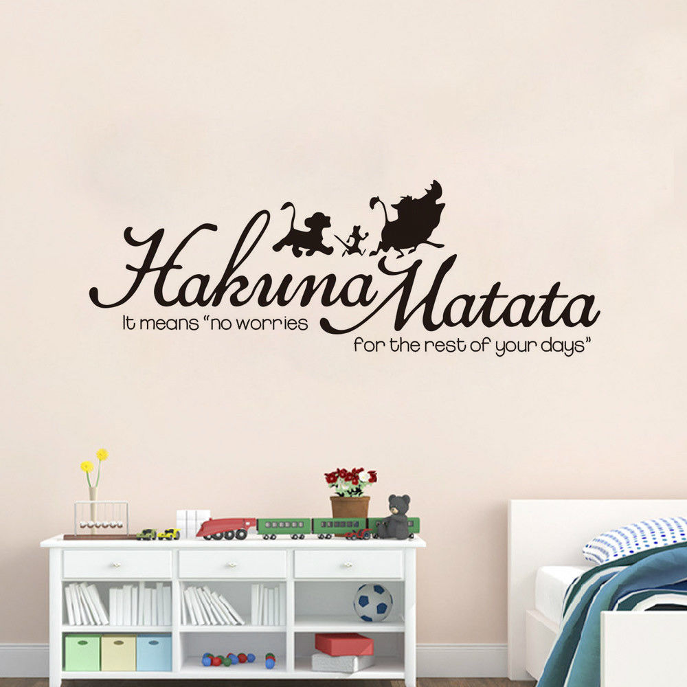Disney <font><b>Lion</b></font> <font><b>king</b></font> <font><b>hakuna</b></font> <font><b>matata</b></font> boys girls Bedroom Wall Vinyl Decal Wall Stickers for kids rooms Art Decor Poster image