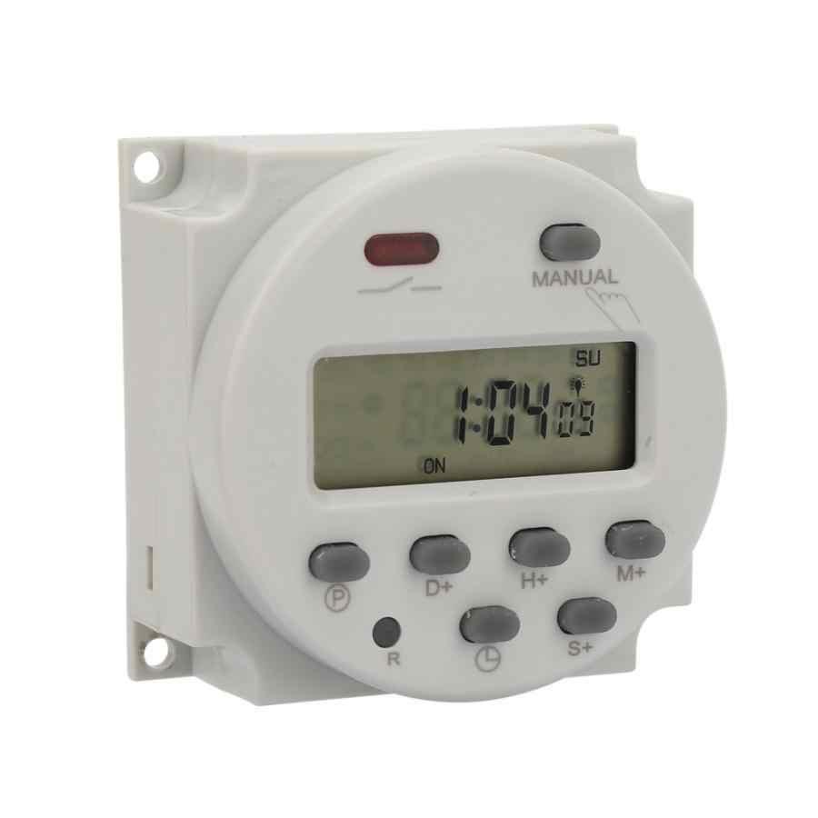 Mały typ 7 dni programowalny cyfrowy wyświetlane wyłącznik czasowy 1S ~ 168h 5VA do elektronicznego sterowania