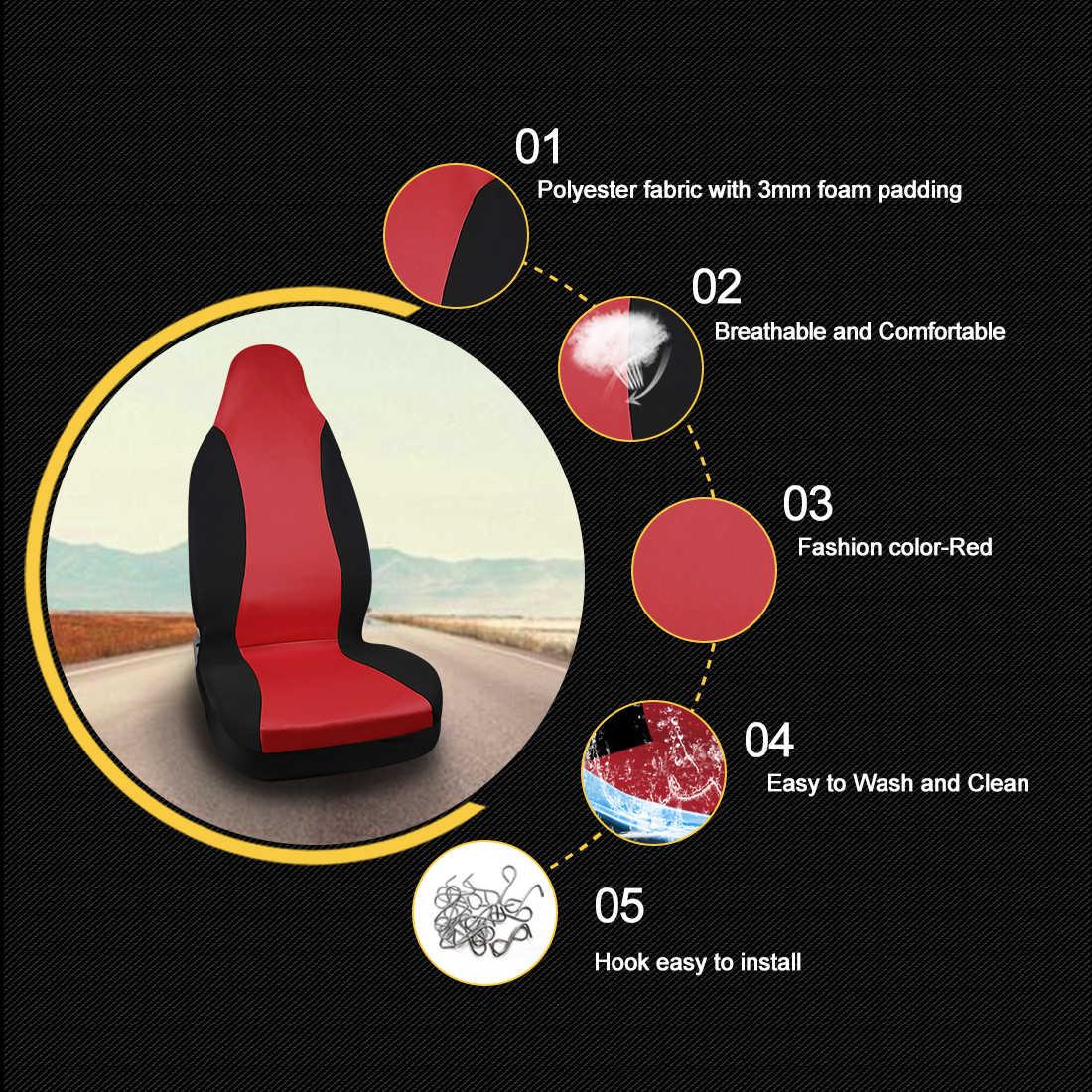 X Autohaux 5 kolorów wiadro uniwersalne pokrowce na siedzenia samochodowe nadające się do Auto pojazd ciężarówka SUV wnętrze dekoracji siedzenia obejmuje akcesoria