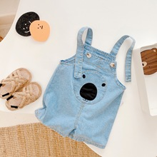 Kids Baby Girl Denim Overalls 2021 Sumemr Fashion New Toddler Clothing Casual Children Suspender Trousers Girl Short Clothes Set