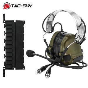 Image 5 - COMTAC TAC SKY comtac iii סיליקון מחממי אוזני כפול לעבור גרסה הפחתת רעש טנדר צבאי ירי טקטי headsetFG