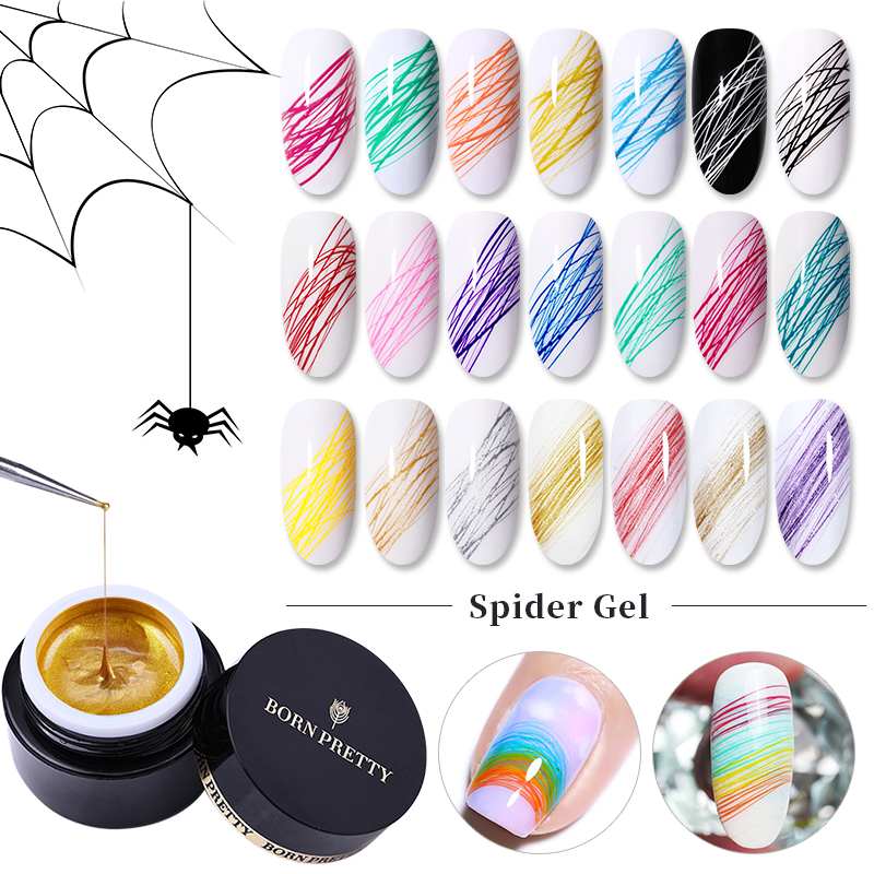 BORN PRETTY Spider Gel Creative Wire Drawing Nail Gel Varnish Point To Line Pulling Silk Painting UV Gel Spider Gel Nail Polish