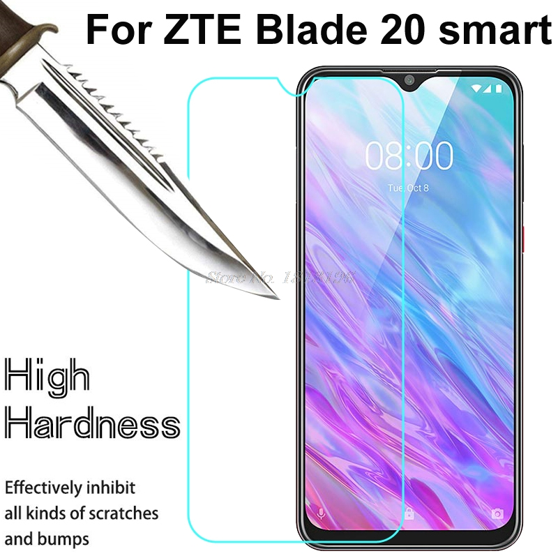 Tempered Glass For ZTE Blade 20smart 20 Smart GLASS 9H Protective Film A5 A7 S 2020 10 Prime Clear Screen Protector Phone Cover