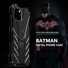 R JUST Batman odporny na wstrząsy etui do Iphone 11 Pro 12 Mini Max Xr Xs Max 7 8 Samsung S10 S9 Plus luksusowe Aluminium metalowa obudowa