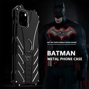 Image 1 - R JUST Batman étui antichoc pour Iphone 11 Pro 12 Mini Max Xr Xs Max 7 8 Samsung S10 S9 Plus housse de luxe en Aluminium en métal