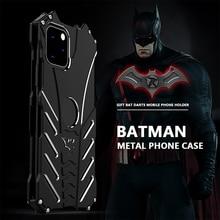 R JUST batman caso à prova de choque para iphone 11 pro 12 mini max xr xs max 7 8 samsung s10 s9 mais luxo caso de metal alumínio capa