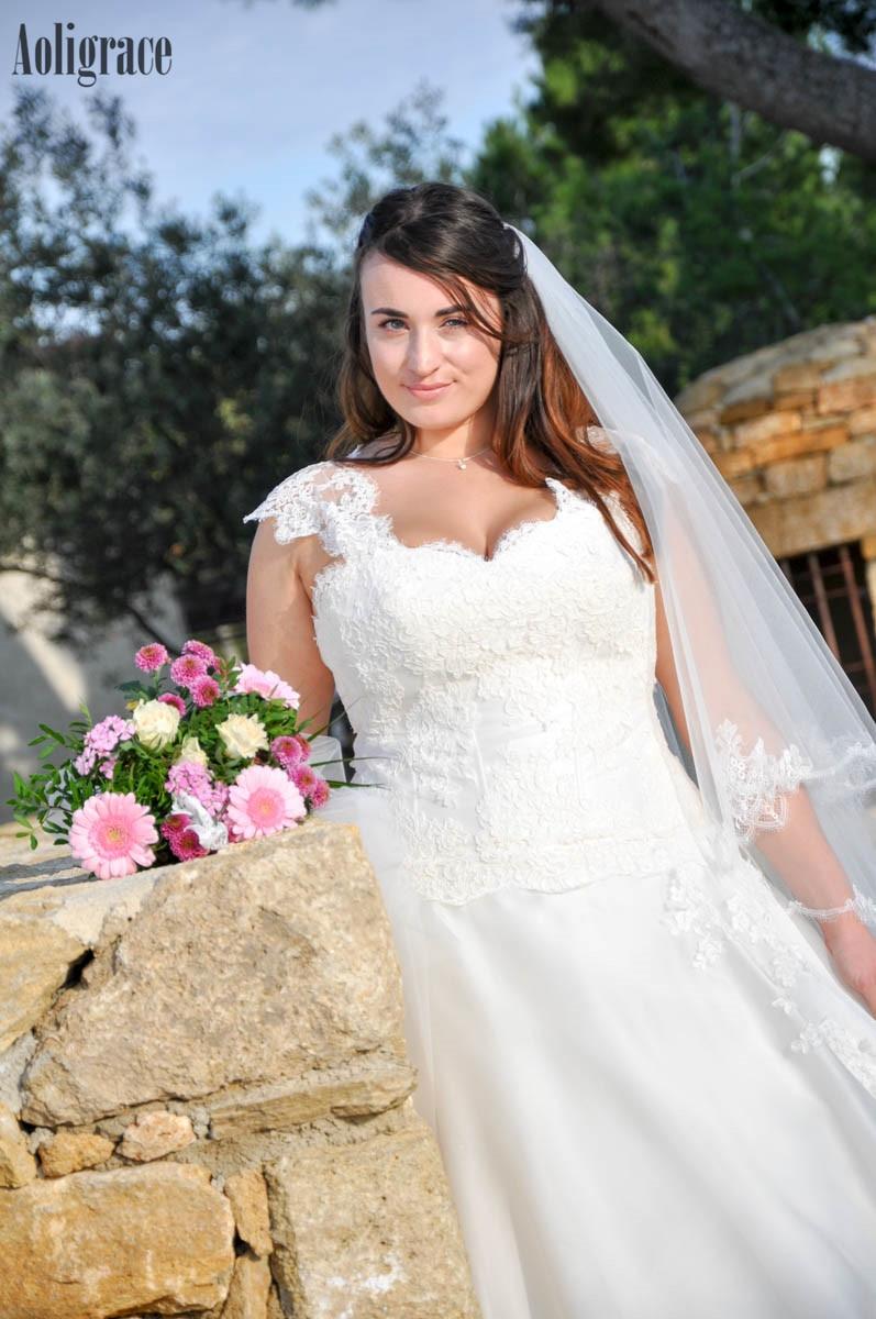 Plus Size Lace Wedding Dresses For Bride Appliques A Line Sweep Train Country Style Bridal Gowns Garden Vestidoe De Noiva Custom
