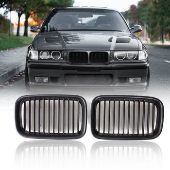 Pair Matte Black Sport Kidney Grille Grill For BMW E36 318 328 328 1992 1993 1994 1995 1996 Car Racing Grills image