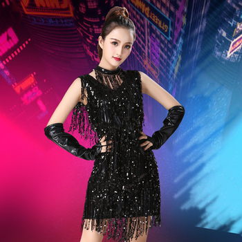 Latin Dance Costumes Performance Set Sequins Tassel Competition Dress Stage Dress Adult Female Rave Outfit Performance Costume children s latin dance costume costume children s latin dance dress new sequins tassel skirt dresses stage performance costumes