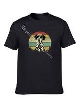 Macia Cão Dálmata impresso T-shirt 100% algodão moda casual Harajuku estilo simples de grandes dimensões top de algodão T-shirt dos homens