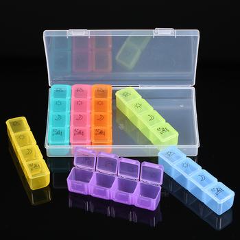 Pojemnik na pigułki przenośny tygodniowy pojemnik na leki pojemnik na leki 7 dni 4 razy dziennie rano w południe po południu 28 gniazd tanie i dobre opinie Przypadki i rozgałęźniki pigułka plastic Pill Storage Box