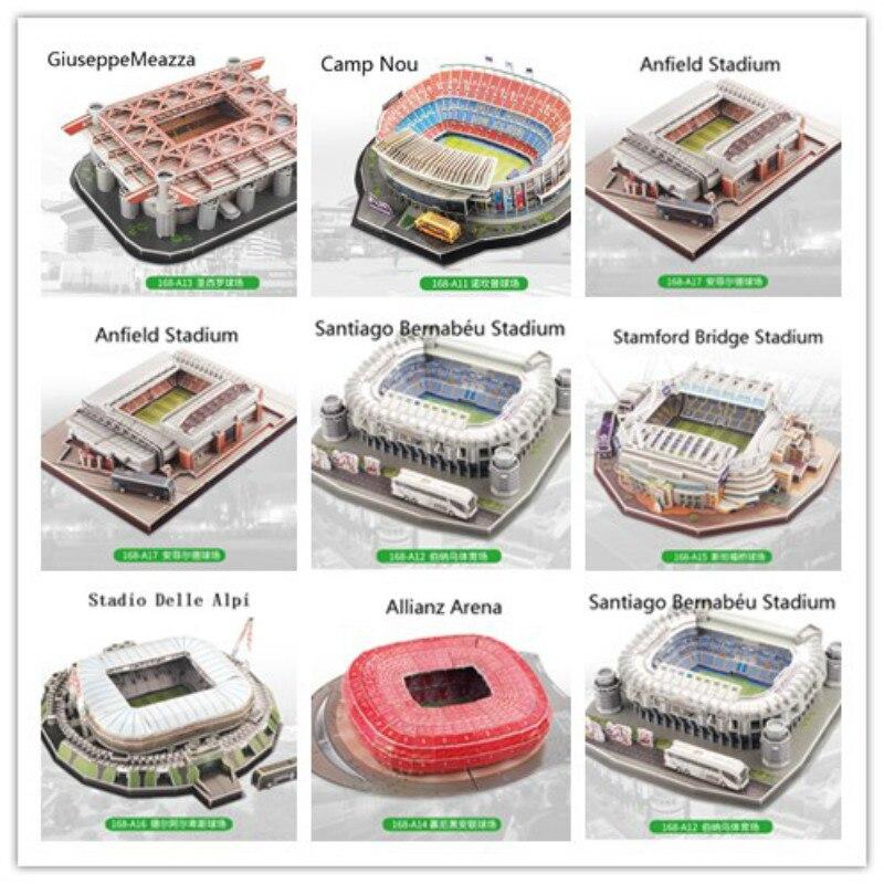 ثلاثية الأبعاد لغز الأوروبي شنطة نادي كرة القدم ليفربول أماكن DIY بها بنفسك نموذج لغز لعبة ورقة بناء ملعب كرة القدم لكرة القدم تجميع لعبة الهداياألغازالألعاب والهوايات -