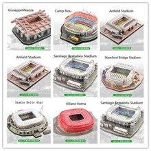 Rompecabezas 3D para clubes de fútbol europeos, lugares de Liverpool, modelo DIY, rompecabezas de papel, construcción de estadio, ensamble de fútbol, regalos de juego