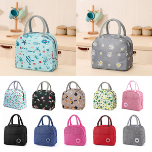 Cute Cactus Portable Zipper Waterproof Lunch Bags Women Student Lunch Box Thermo Bags Office School Picnic Cooler Food Bag Bolso