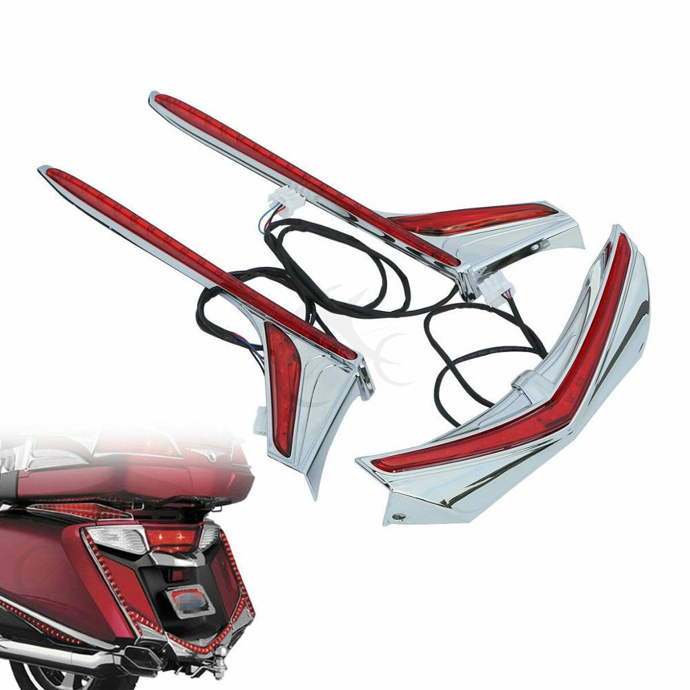 Motorcycle Rear Fender Tip Run Brake Vertical LED Light Strips For Honda Goldwing GL1800 GL 1800 & F6B 2012-2017 2016 2015