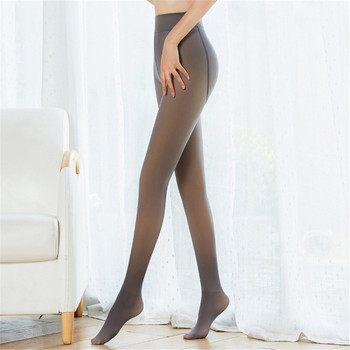Sexy Women Tights Fashion Winter Warm Pantyhose High Elastic Nylon Pantyhose Stretchy Fashion Long Warm Fleece Stockings image