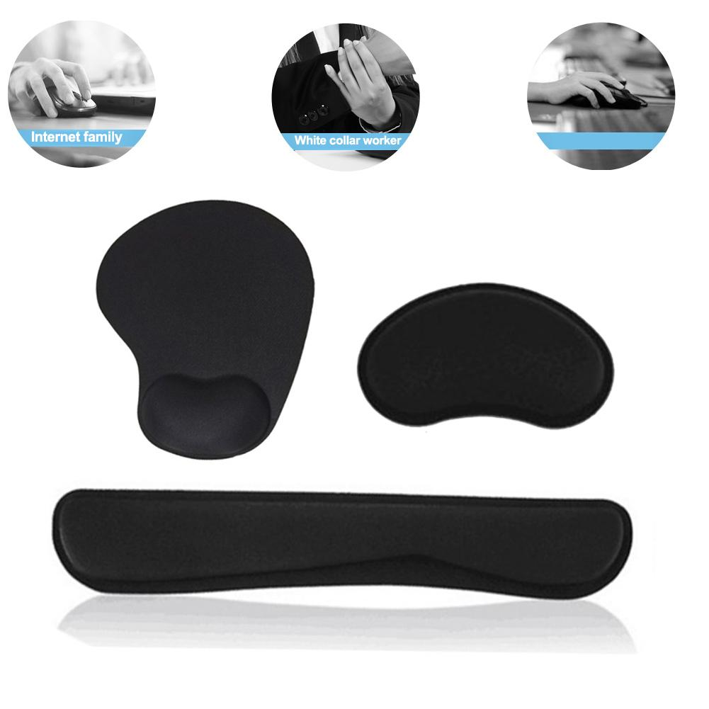 Memory Cotton Keyboard Wrist Res Mouse Support Wrist Care Comfort Mouse Pad Ergonomic Memory Cotton For Games Office  Laptop