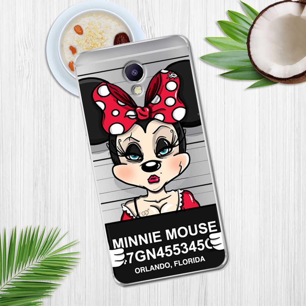 Mickey Minnie para Meizu M3S M5 M5S M5C M6 M3 M5 M6 nota U10 U20 cubierta de la caja del teléfono de Coque Etui capa Funda de tapa animal gato