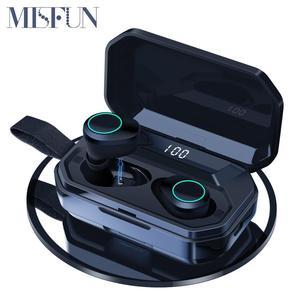 Image 1 - G02 TWS 5.0 Bluetooth 9D סטריאו אוזניות אלחוטי אוזניות IPX7 עמיד למים אוזניות 4000mAh LED תצוגה חכם כוח בנק