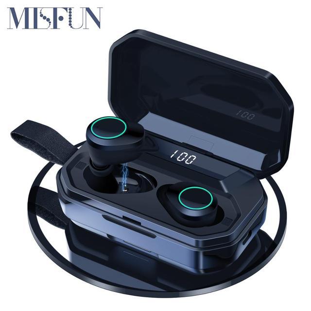 G02 TWS 5.0 Bluetooth 9D סטריאו אוזניות אלחוטי אוזניות IPX7 עמיד למים אוזניות 4000mAh LED תצוגה חכם כוח בנק