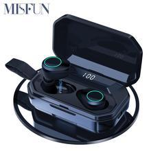 G02 TWS 5.0 Bluetooth 9D Stereo kulaklık kablosuz kulaklık IPX7 su geçirmez kulaklık 4000mAh LED ekran akıllı güç banka