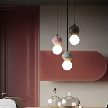 Nordic Restaurant LED Pendant Lights Creative Bar Bedroom Pendant Lamps Living Room  Decoration Lighting lamparas creative style restaurant and bar mysterious indian musical instruments living room pendant light page 5