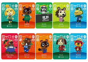 Image 5 - New Amiibo Card NS Game Series 1 (001 to 040) Animal Crossing Card Work for